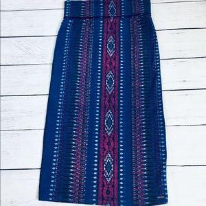 Roxy boho/ethnic pattern midi skirt Medium